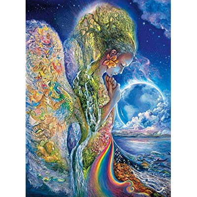 Josephine Wall - The Sadness of Gaia - Glitter Edition - 1000 Piece Jigsaw Puzzle: Toys & Games
