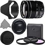 FUJIFILM XF 18-55mm f/2.8-4 R LM OIS Wide Angle Lens (16276479) + AOM Pro Kit Combo Bundle – Fuji 18-55 mm X-Mount Zoom Kit Lens - International Version