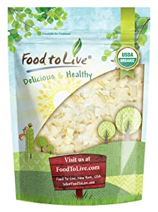 Organic Coconut Chips, 3 Pounds - Non-GMO, Kosher, Raw, Desiccated, Unsweetened, Unsulfured, Dried Flakes, Vegan, Keto, Bulk, Great for Baking