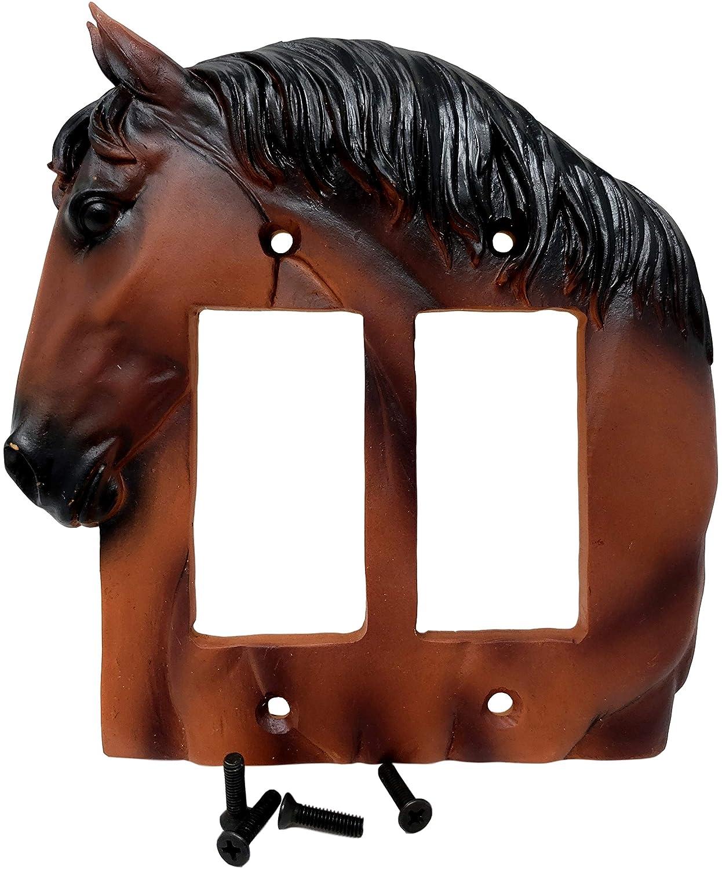 HORSEBUST DOUBLE ROCKER PLATE COVER