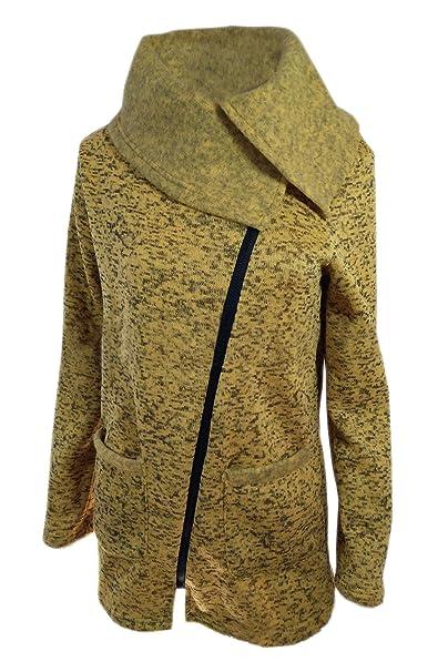 timeless design 891b2 8dc12 Damen Woll Mäntel Outwear Reißverschluss Runter Fallen ...