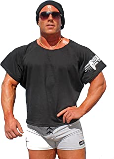 product image for Physique Bodyware Men's Vintage Bodybuilder Rag Top. Made in America