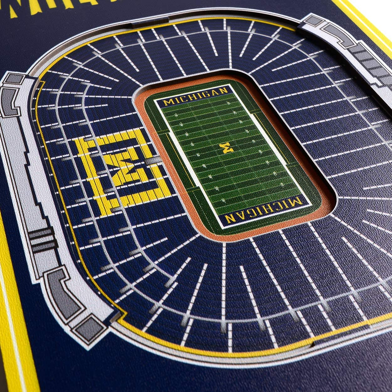 8 x 32 Inches YouTheFan NCAA 3D Stadium Banner