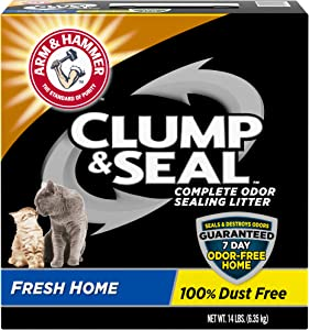 ARM & HAMMER Clump & Seal Cat Litter, Fresh Scent 14lb