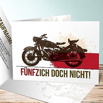 Einladung 50 Geburtstag Lustig Biker 5 Karten Horizontale