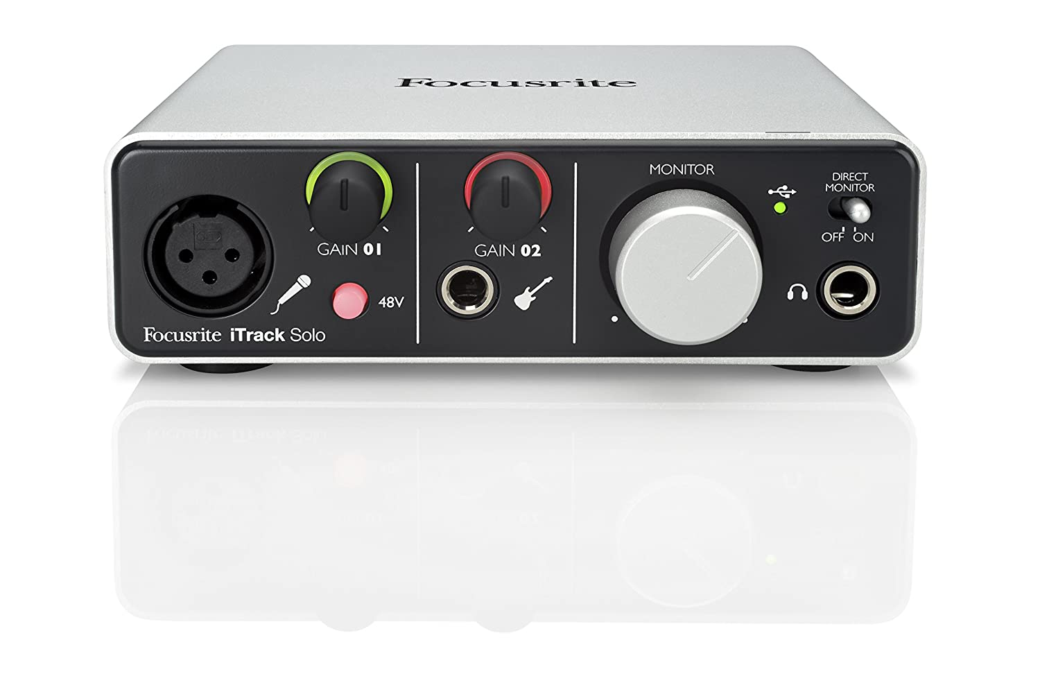 Focusrite iTrack Solo Lightning and USB Compatible Audio Interface