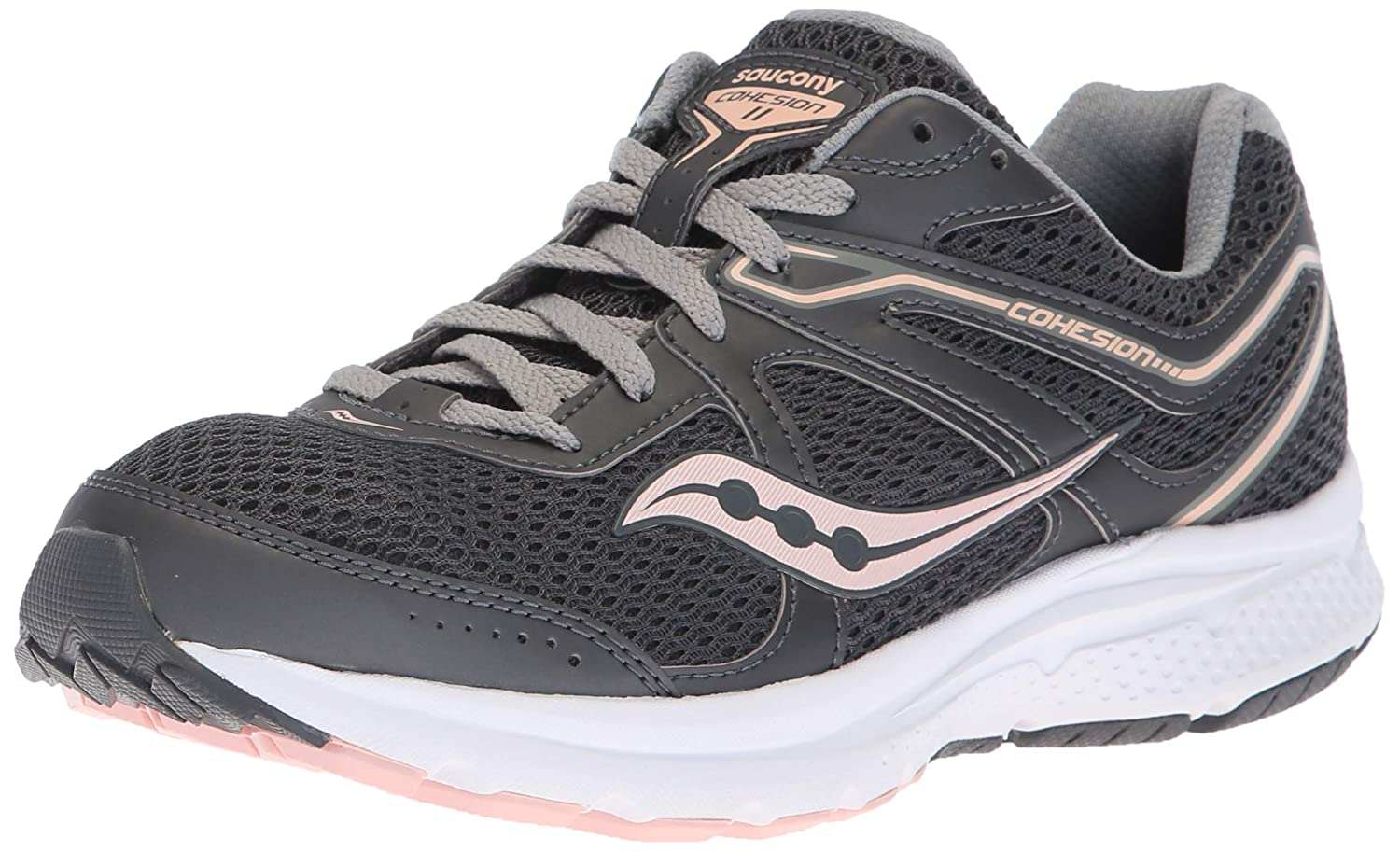 訳あり Saucony Women's Grid Cohesion 10.5 11 US Ankle-High M Mesh Running Shoe B077XZ2L4D Charcoal/ Peach 10.5 M US 10.5 M US|Charcoal/ Peach, エイブルマート:deb8351c --- a0267596.xsph.ru