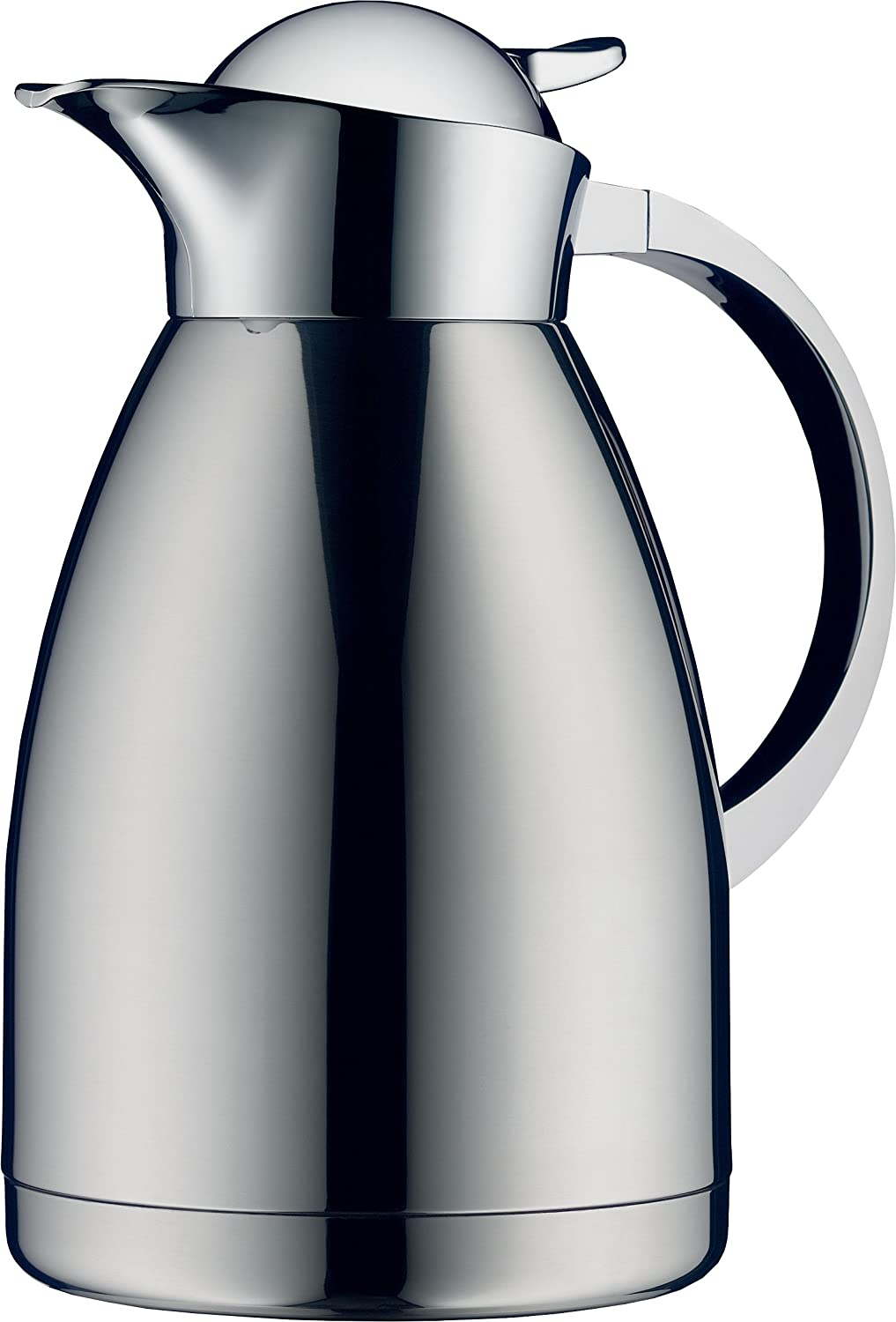 Alfi Albergo 1.5 Liter Top Therm Vacuum Insulated Carafe for Hot and Cold Beverages, Stainless Steel