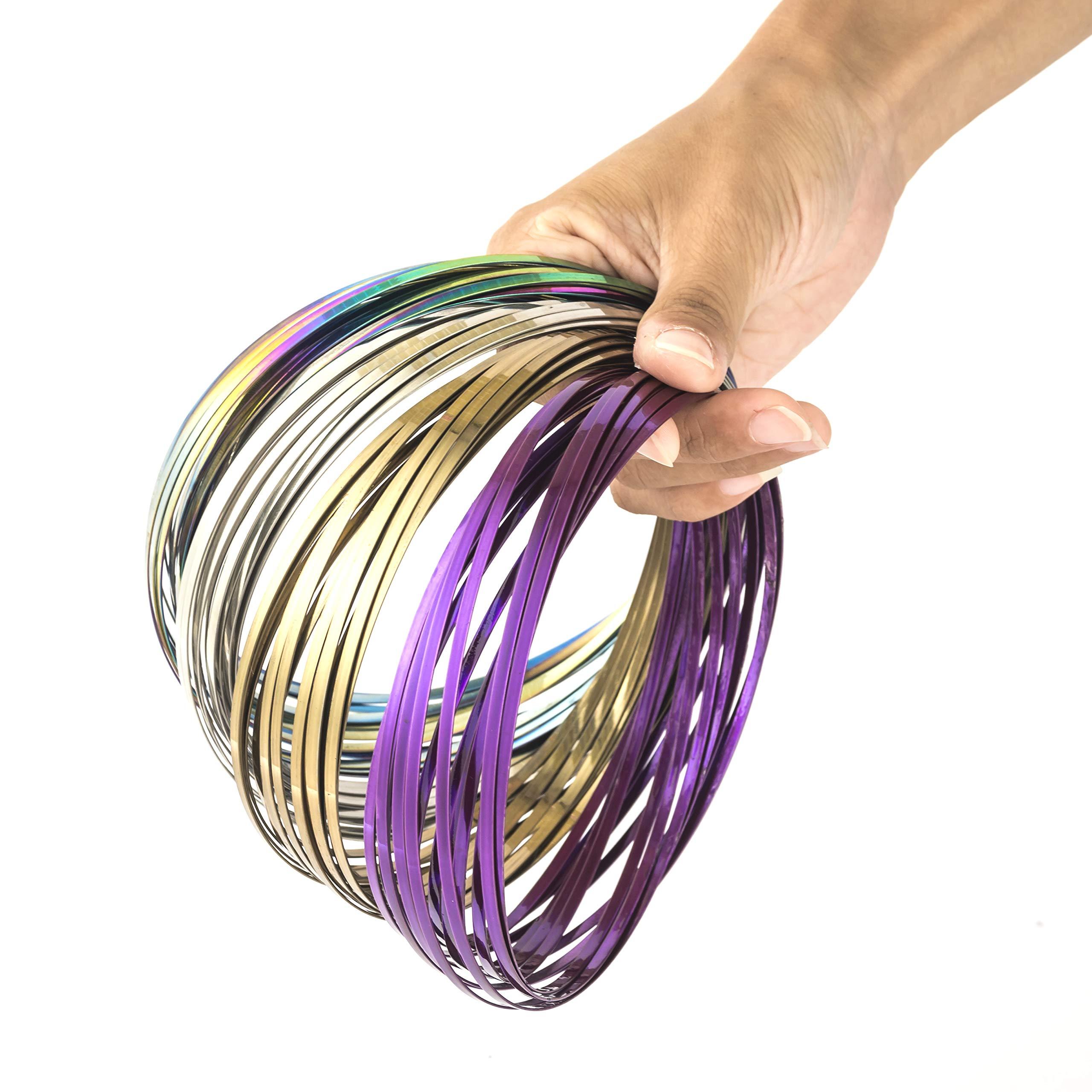 KELZ KIDZ Kinetic 3D Flow Rings Made from High Grade Stainless Steel (12 Pack Assorted) by KELZ KIDZ (Image #1)