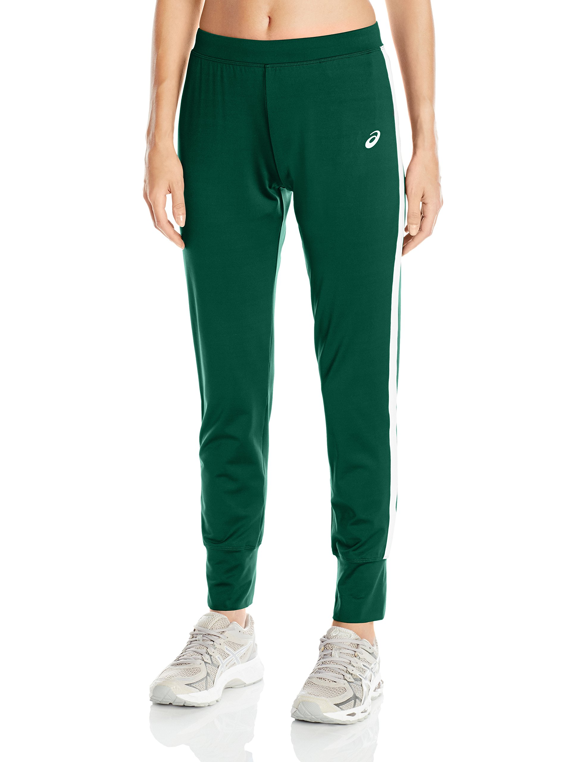 ASICS Women's Lani Performance Pant, Forest/White, X-Large by ASICS