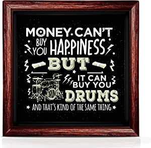 Drummer Gifts | Music Gifts for Drummers | Original Wall Art Music Gift for Musician | Ideal Drum Set Accessories for Music Studio Decor | Funny Music Teacher Gifts