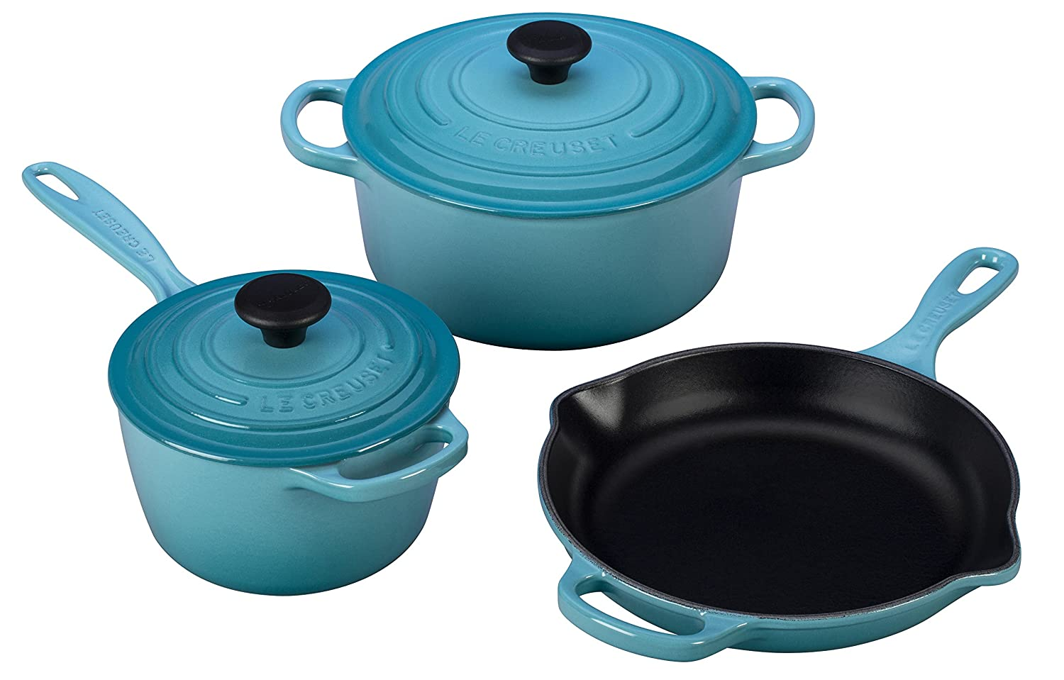 Amazon.com: Le Creuset 5 Piece Signature Enameled Cast Iron ...