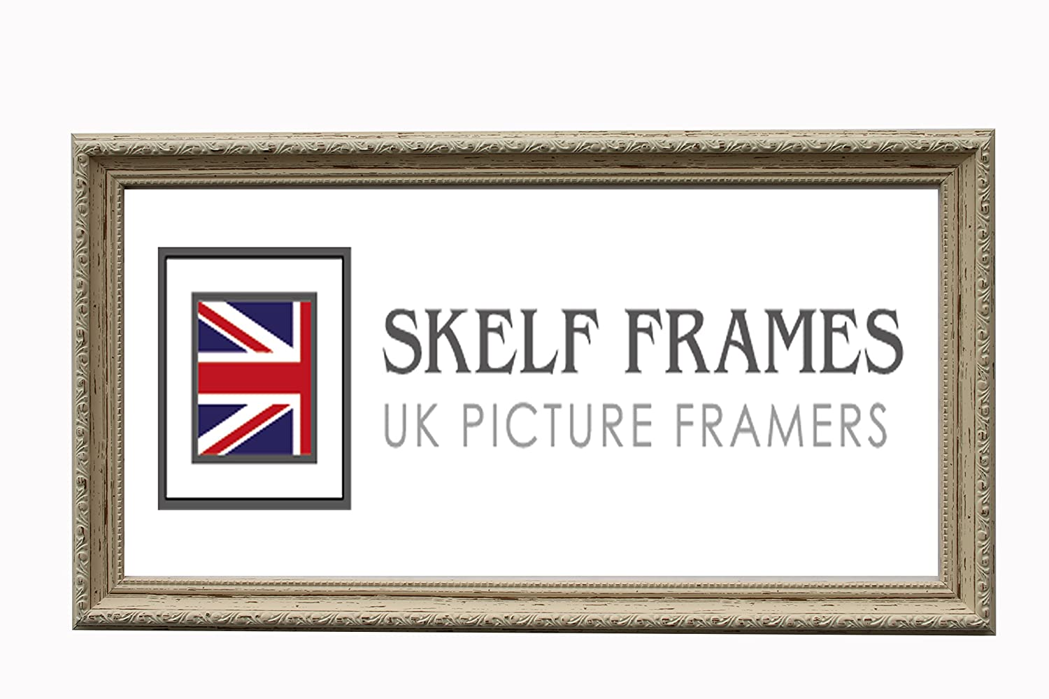 ORNATE SHABBY CHIC DISTRESSED LOOK PICTURE PHOTO POSTER FRAME WITH GLASS (A3) Skelf Frames Ltd