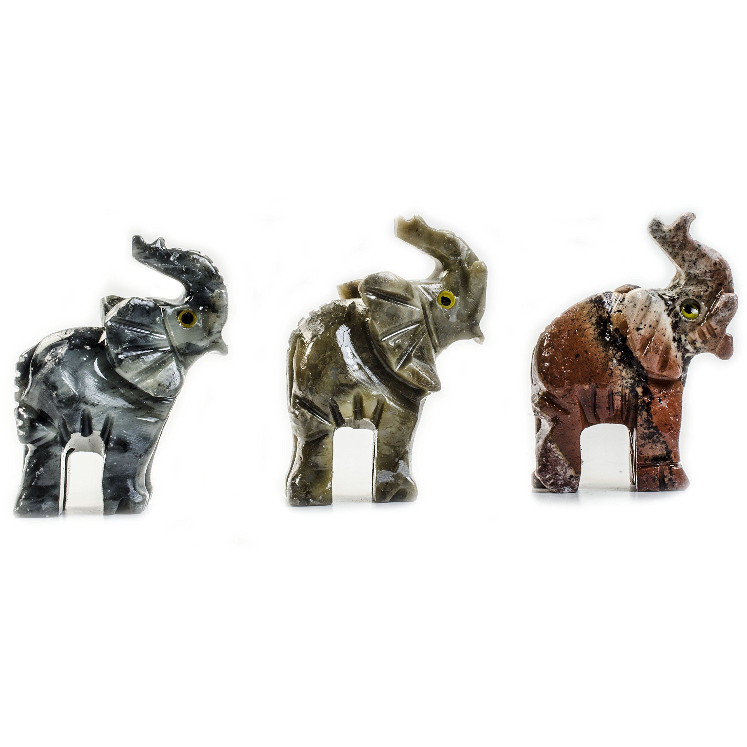 Digging Dolls : 10 pcs Artisan Elephant Collectable Animal Figurine - Party Favors, Stocking Stuffers, Gifts, Collecting and More!