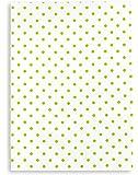 Torchon métis imprimé, lin&coton, TRIOLINO®, motif points verts, 50x70 cm