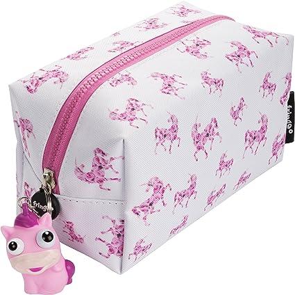 Fringoo/® Grande trousse en forme de licorne en peluche douce rose