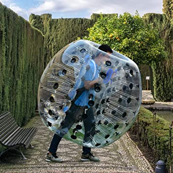 Amazon.com: Pelota de burbuja inflable Costzon, diámetro de ...