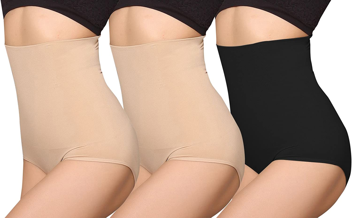 iloveSIA Womens High Waist C-Section Recovery Slimming Underwear Tummy Control Panties Pack of 3