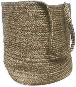 "Bee & Willow Home Jute Laundry Hamper in Natural | Casual, Coastal, Country Style | Braided Rushes | 19"" W x 28"" H"