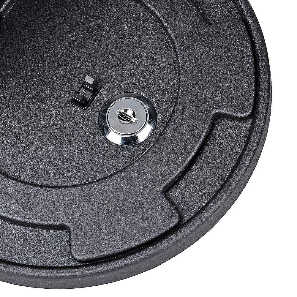Black Gas Cap Fuel Filler Tank Door Pop-up Cover with Lock Compatible with 2007-2017 Jeep Wrangler JK JKU
