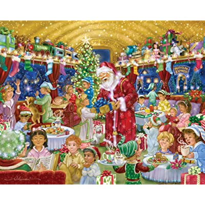Vermont Christmas Company Rudolph Express Jigsaw Puzzle 1000 Piece: Toys & Games