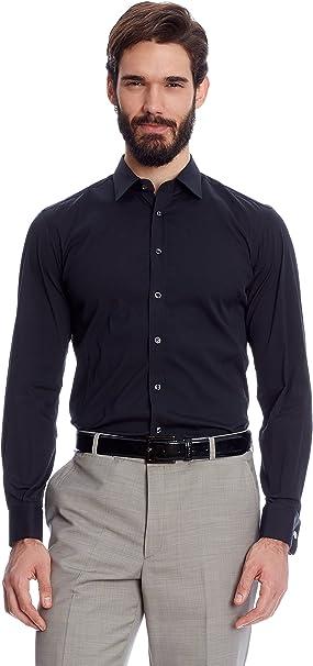 Caramelo Camisa Hombre Azul Marino ES 43: Amazon.es: Ropa y accesorios