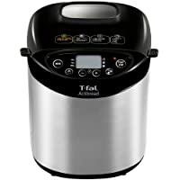 T-fal PF311 ActiBread 15 Programs Bread Machine Stainless Steel Housing Nonstick Coating Automatic Bread Maker with LCD Display, 2-Pound