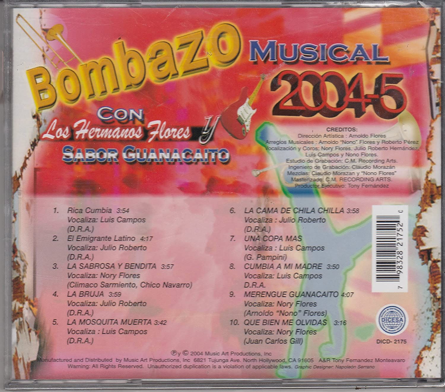 Los Hermanos Flores - Bombazo Musical 2004-5 - Los Hermanos Flores Y Sabor - Amazon.com Music