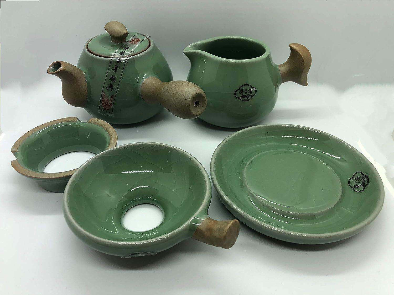 BW 11 Piece Chinese Traditional Porcelain Kung Fu Tea Set Ge Yao Green
