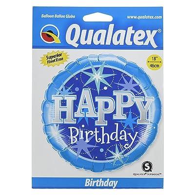 "Qualatex 18\"" Birthday Blue Sparkle Round Supra Foil Balloon: Toys & Games [5Bkhe0804346]"