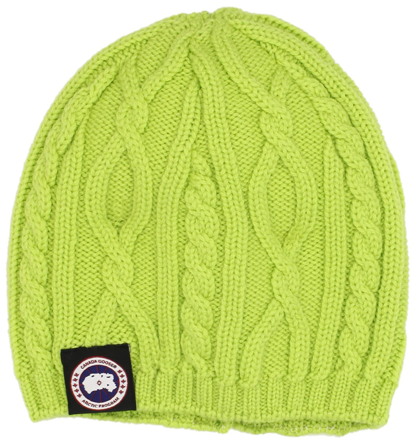 de265786ca6 Amazon.com  Canada Goose Women s Merino Cable Beanie (One Size ...