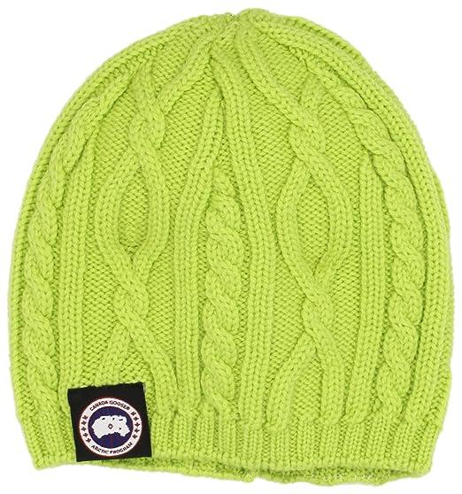 8f012bea388ff0 Amazon.com: Canada Goose Women's Merino Cable Beanie (One Size ...