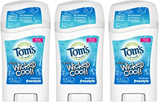 product image for Tom's of Maine Aluminum-Free Wicked Cool! Natural Deodorant for Kids, Freestyle, 1.6 oz. 3-Pack