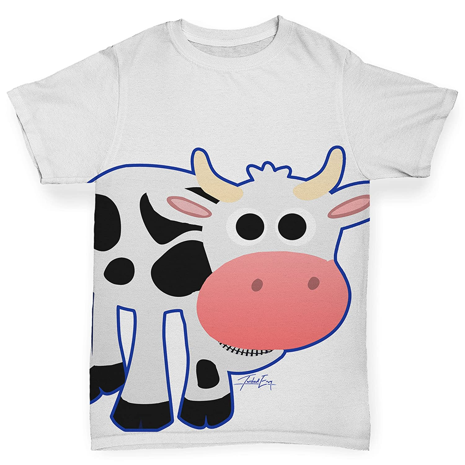 TWISTED ENVY Fat Cow Baby Toddler Funny All-Over Print Baby T-Shirt