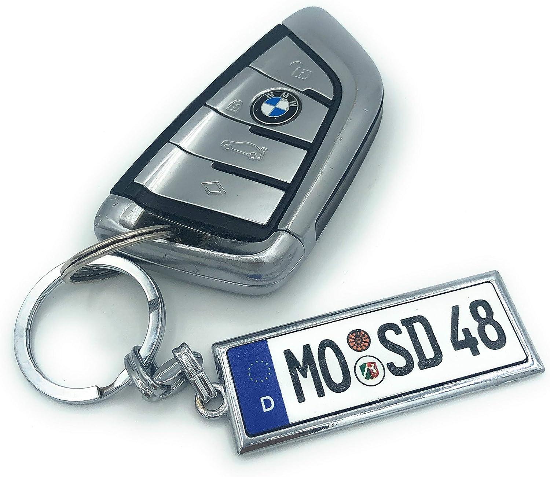 Saphir Design Mini Kennzeichen Schlüsselanhänger In Edlem Qualität Mit Kfz Kennzeichen Autoschilder Wunschkennzeichen Wunschtext Für Auto Nummernschild Geschenk Personalisiert Auto
