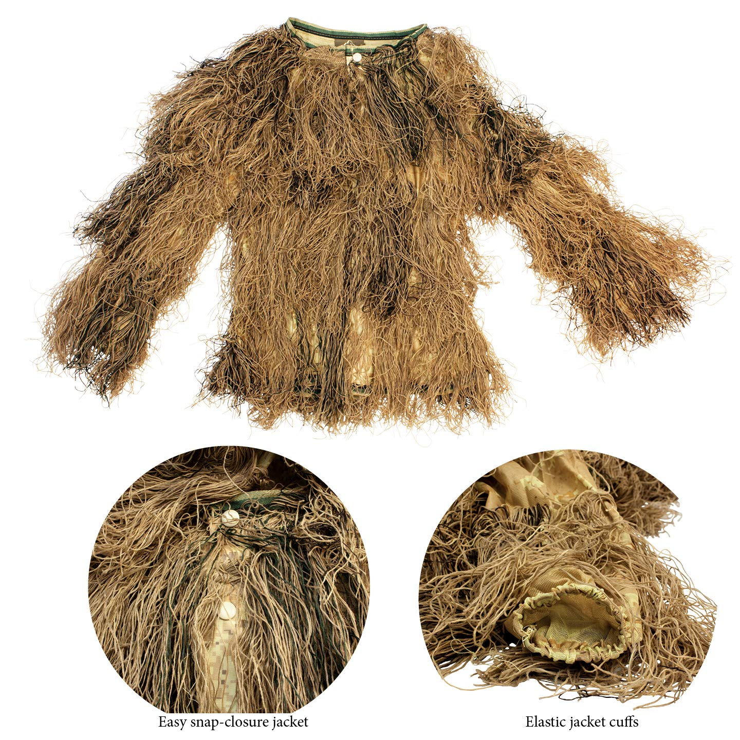 9005381 Red Rock Gear Ghillie Suit 5Piece Desert X-Large/2X-Large by Red Rock Outdoor Gear (Image #5)
