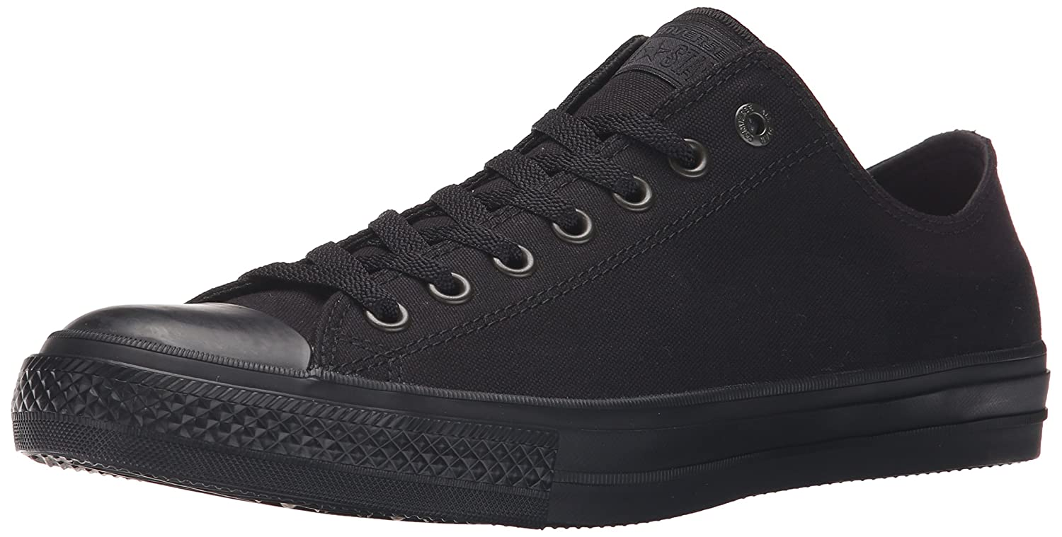 Converse Women's Chuck Taylor All Star Leather Low Top Sneaker B007TMYAJE 8.5 M US|Black Mono