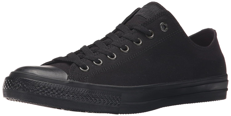 Black Monochrome Converse Chuck Taylor Ii Ox Ankle-High Canvas Fashion Sneaker