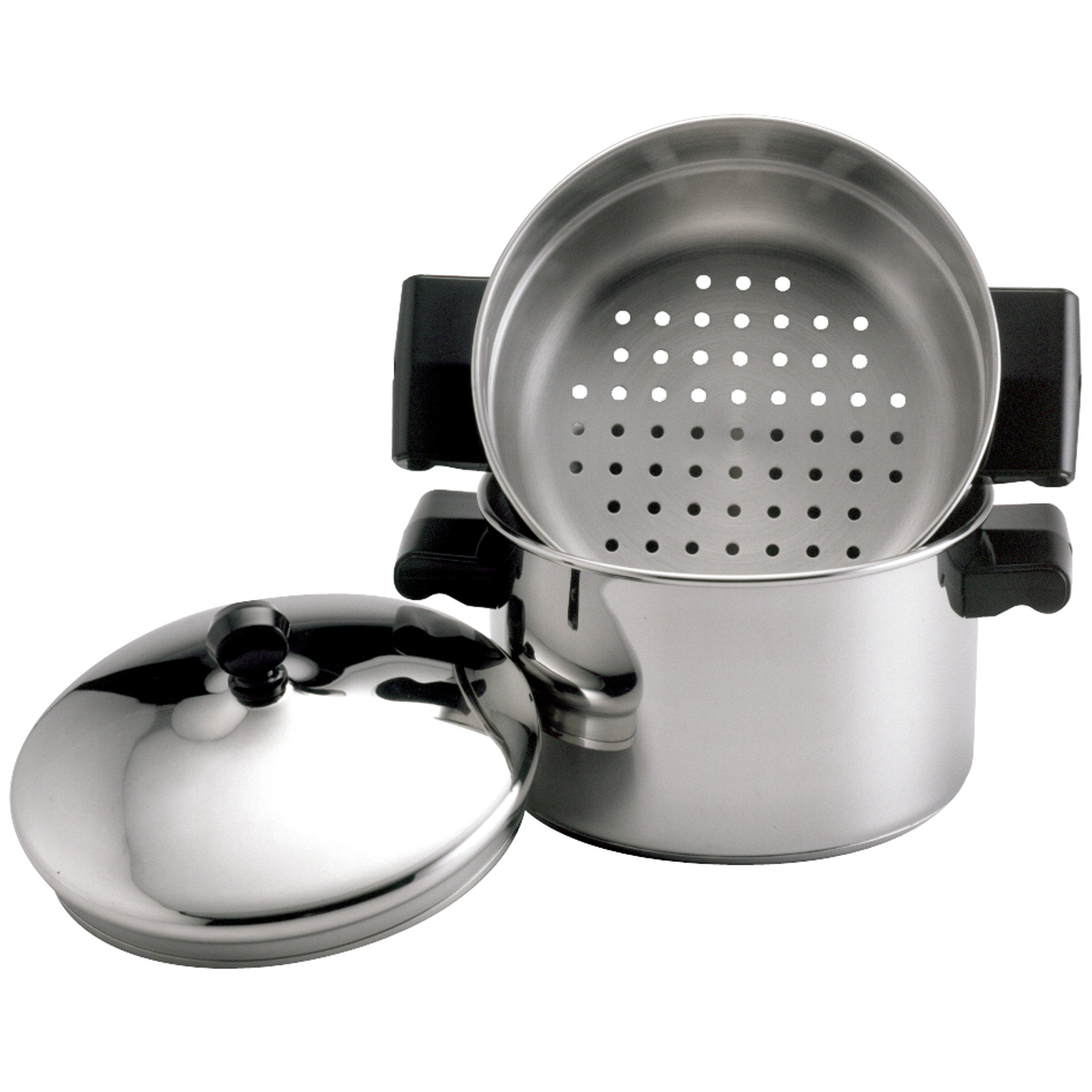 Farberware 70043 Stack 'N' Steam 3-Qt. Covered Saucepot Insert Stainless Steel Steamer Set, 3-Quart by Farberware