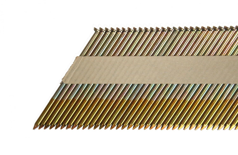 Bandes dT/ête de clous 70/mm 34//° Galvanis/é 2000/pi/èces Convient Bea BOSTITCH PASLODE
