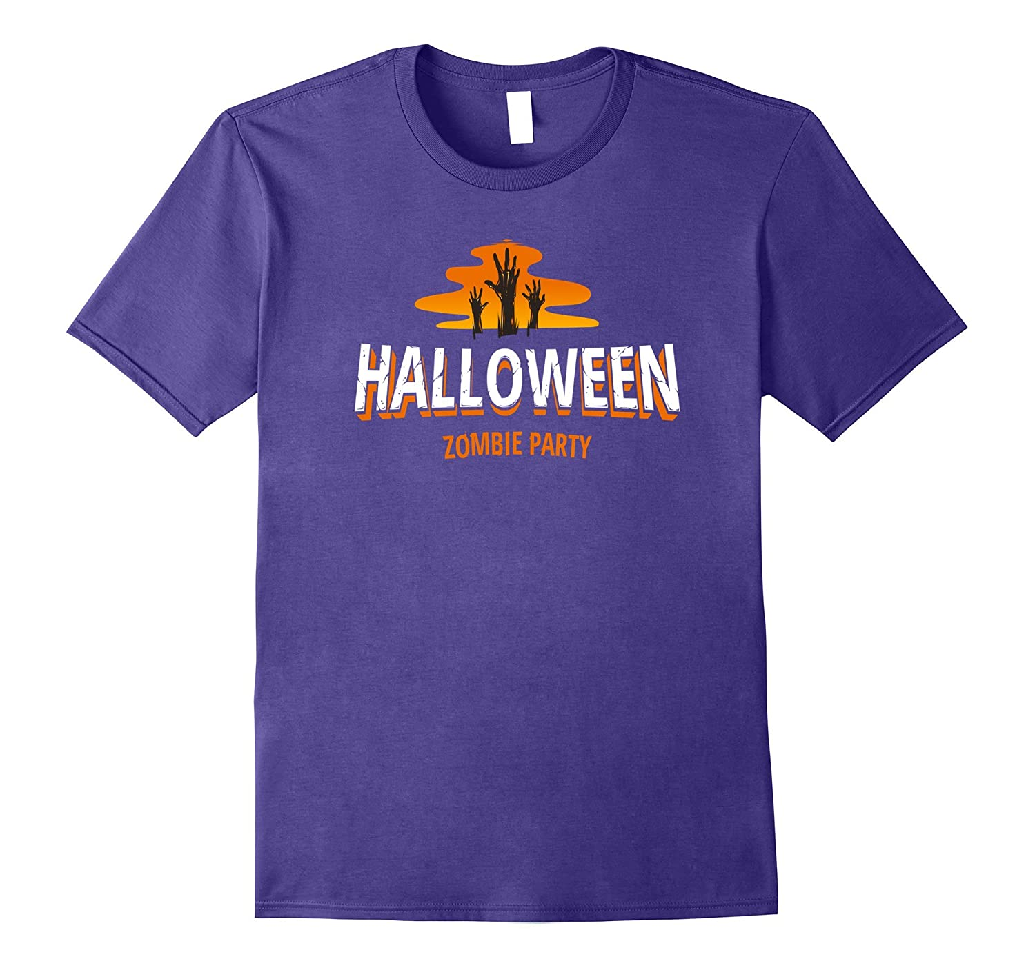 Halloween Zombie Party Retro Holiday Trick or Treat T-Shirt-TH