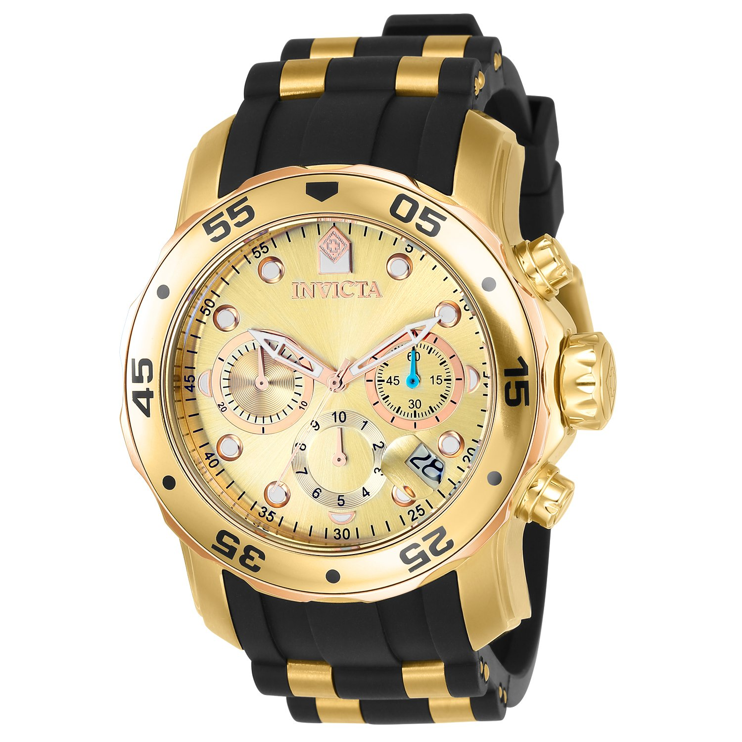Amazon.com: Invicta Men's 17884 Pro Diver 18k Gold Ion-Plated Stainless  Steel Chronograph Watch: Invicta: Watches