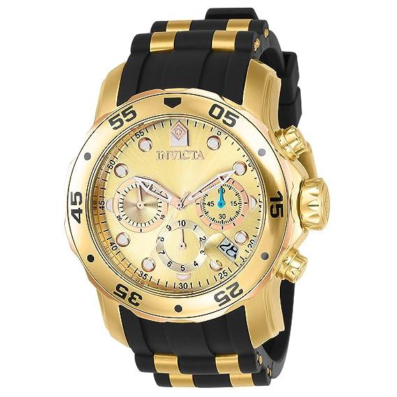 Invicta 17884 Pro Diver - Scuba Reloj para Hombre acero inoxidable Cuarzo Esfera oro: Invicta: Amazon.es: Relojes