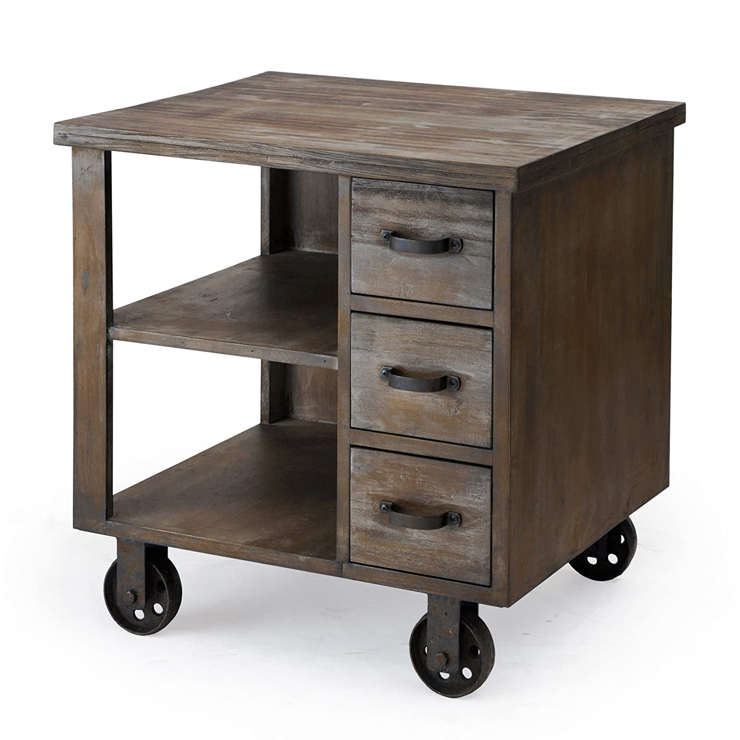 Merveilleux Amazon.com: Madison Park Cirque Accent End Table On Non Moveable Wheels:  Kitchen U0026 Dining