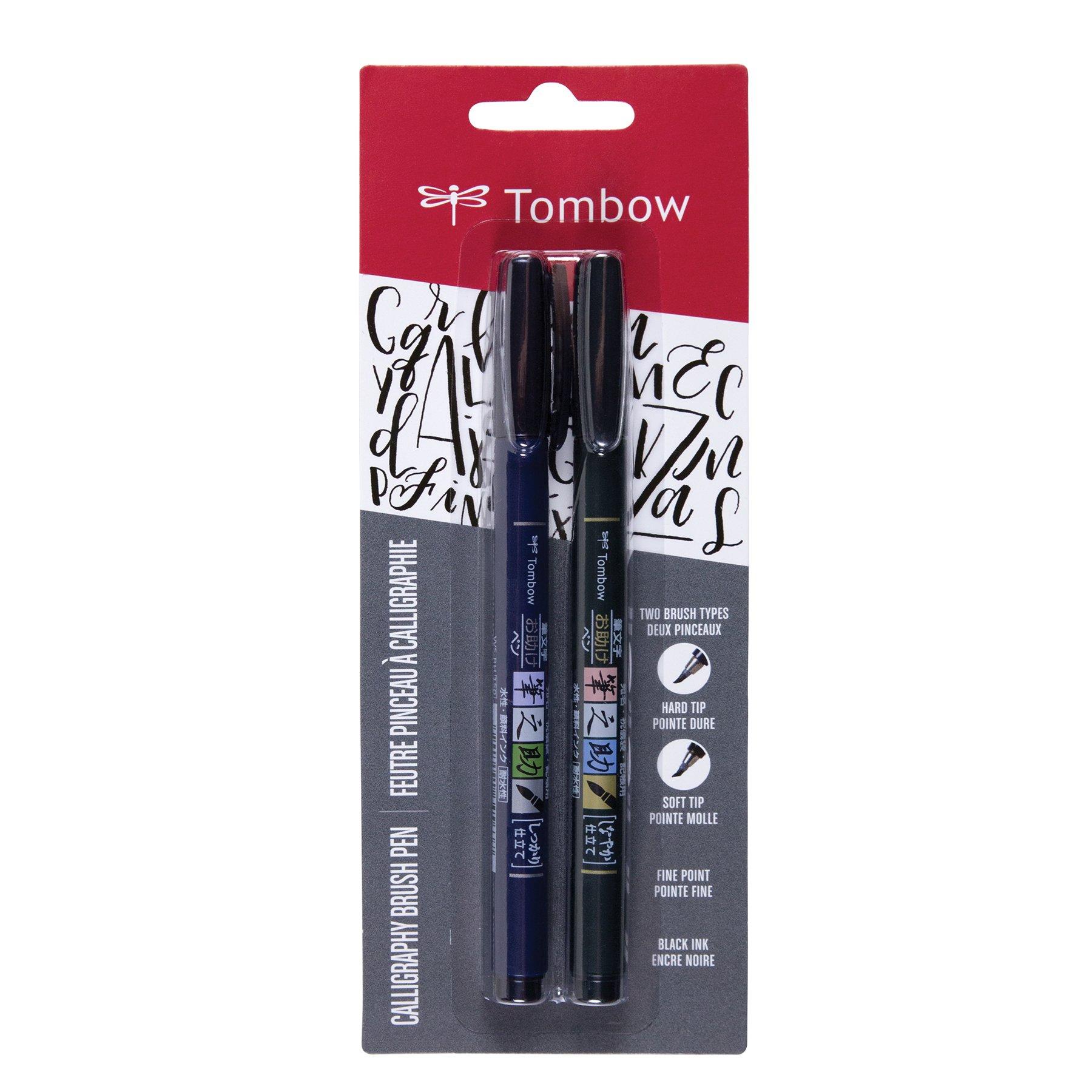 Tombow 62038 Fudenosuke Brush Pen. Punta Dura Y Blanda