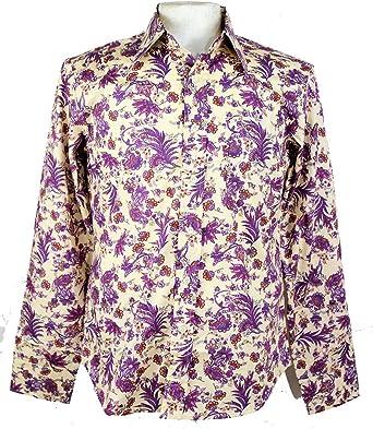 Chenaski - Camisa Casual - para Hombre Morado Paisley XL: Amazon.es: Ropa y accesorios