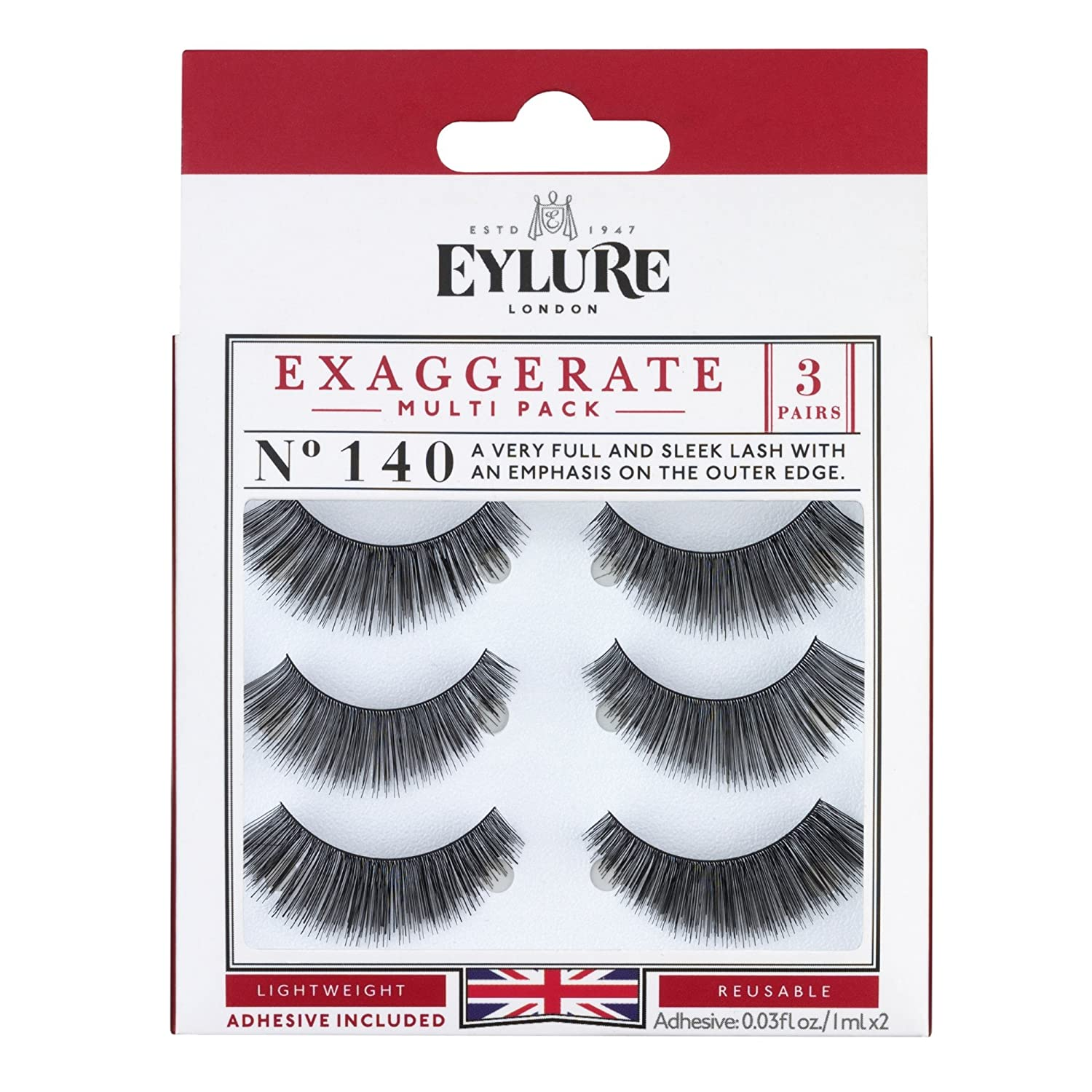 Eylure Strip Lashes Exaggerate Number 143 Original Additions 6001331-US