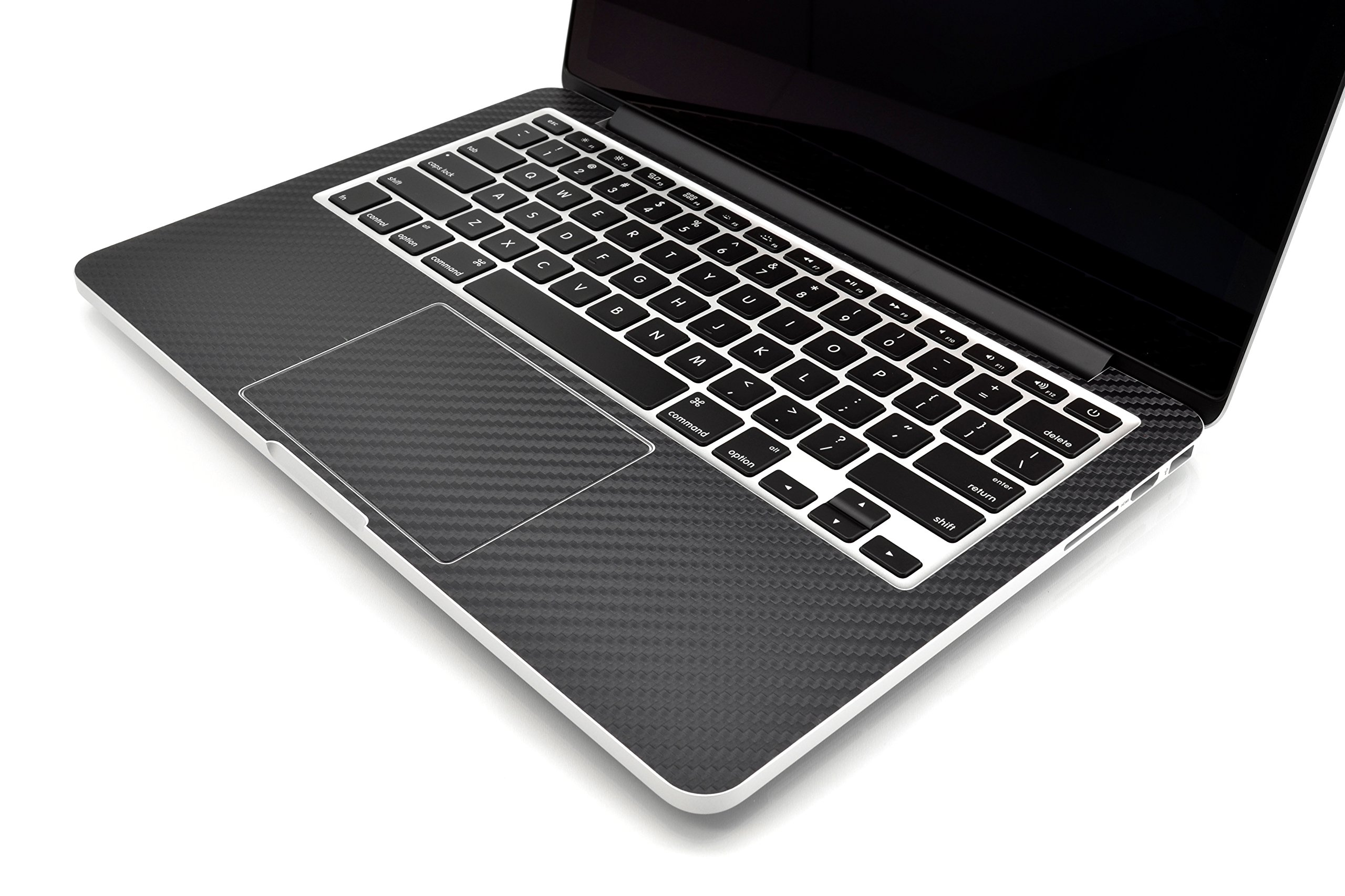iCarbons Black Carbon Fiber Vinyl Skin for MacBook Pro 13'' Retina Full Combo by iCarbons (Image #4)