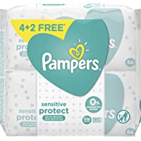 Pampers Sensitive Protect, 336 Wet Wipes