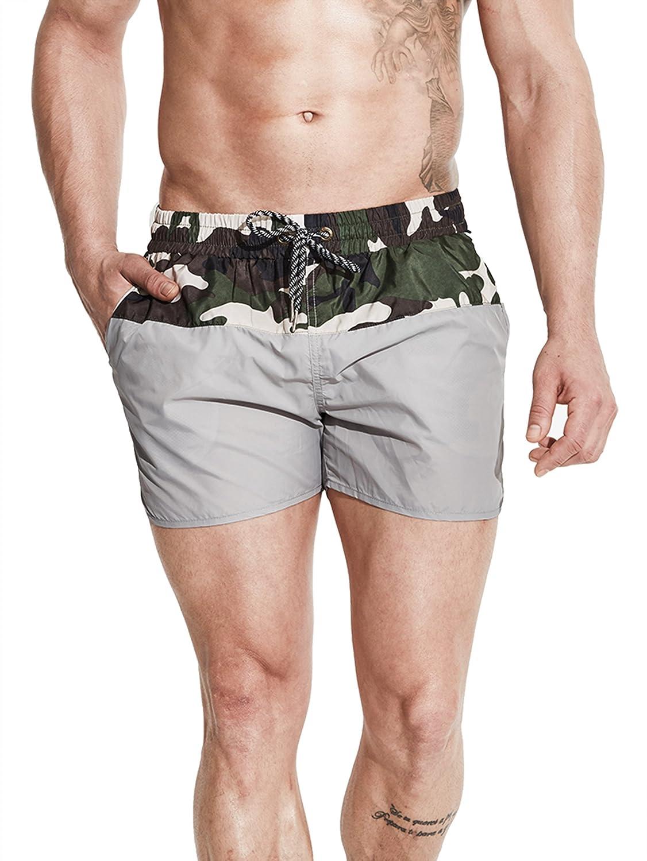 Neleus メンズドライフィットショーツ ポケット付き B072HQYPW1 S,718# Grey